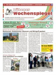 Dübener Wochenspiegel - Ausgabe 08 - 30-04_2014
