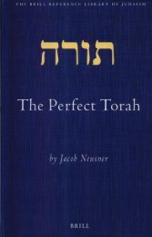 [The Brill Reference Library of Judaism 13] Jacob Neusner - The Perfect Torah (Brill Reference Library of Judaism) (2003, Brill Academic Publishers)
