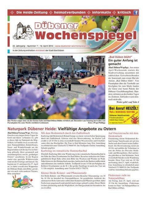 Dübener Wochenspiegel - Ausgabe 07 - 16-04_2014