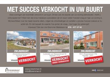 Bremmer Makelaars, met succes verkocht in postcode 3331 / Zwijndrecht!