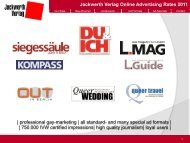 Jackwerth Verlag Online Advertising Rates 2011