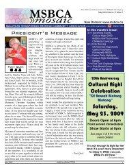 of events May 2009 - MSBCA Calgary