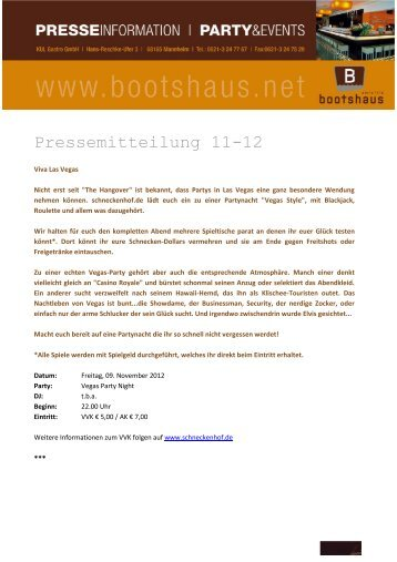 PM 11-12 bootshaus PartyEvents im November 2012