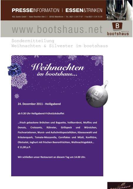 Weihnachten und Silvester 2011 - Bootshaus