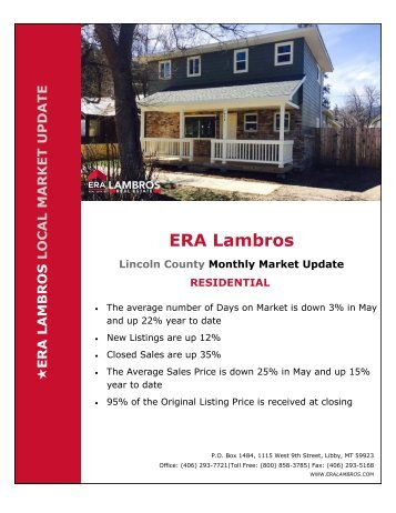 Lincoln County Residential Update - May 2018