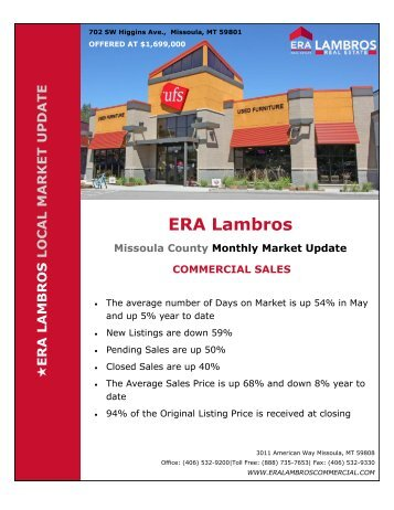 Missoula Commercial Market Update - May 2018