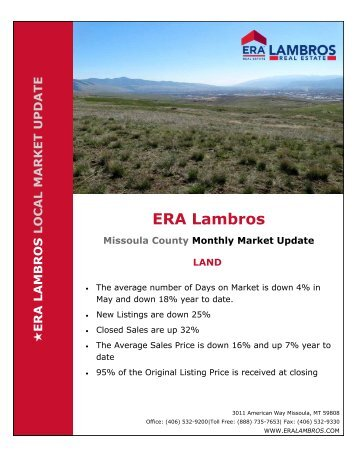 Missoula Land Market Update - May 2018