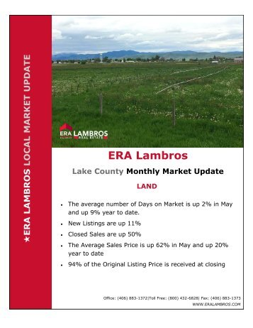 Lake County Land Market Update - May 2018