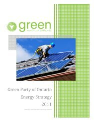 Energy Strategy - Green Party of Ontario