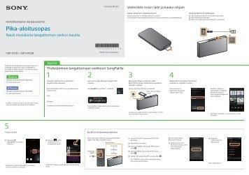 Sony CMT-X7CD - CMT-X7CD Guide de mise en route Finlandais