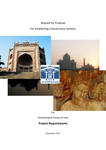 Project Requirements - Archaeological Survey of India