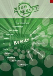 Events - Show Service GmbH