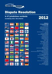 Getting the Deal Through - Dispute resolution 2012 (PDF - Polenak