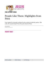 People Like Them: Highlights from Ibiza | The Sunday Times