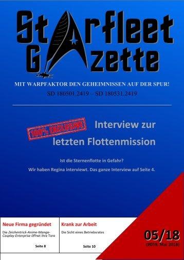 Starfleet-Gazette, Ausgabe 059 (Mai 2018)