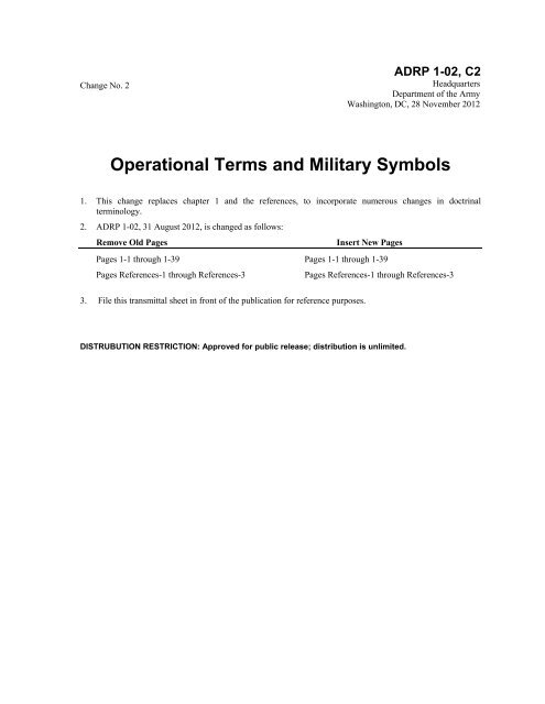 Operational Terms and Military Symbols - Army Electronic