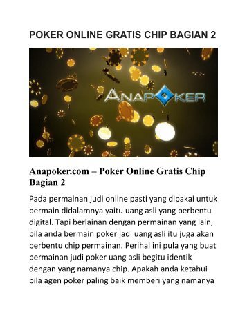 POKER ONLINE GRATIS CHIP BAGIAN 2
