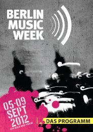 U1 BMW.indd - Berlin Music Week