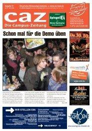 Campus-Zeitung caz, Ausgabe 73 vom 27.10.2008
