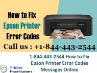 1-844-443-2544 How to Fix Epson Printer Error Codes