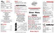 Brown Bag it! Diner Menu - Pattis Good Food