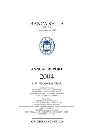 annual report - Gruppo Banca Sella