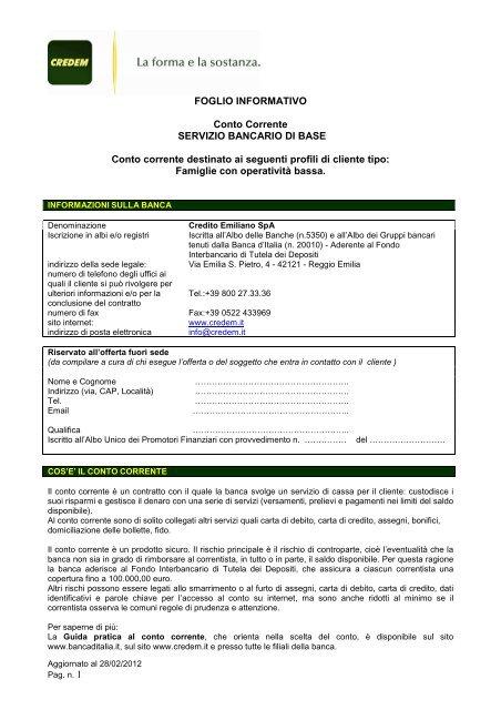 Cc Conto Base Consulting Finanziaria Srl