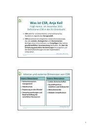Was ist CSR, Anja Keil - FUgE Hamm