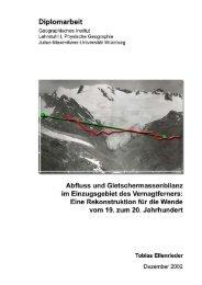 abfluss und gletschermassenbilanz - Kommission für Glaziologie