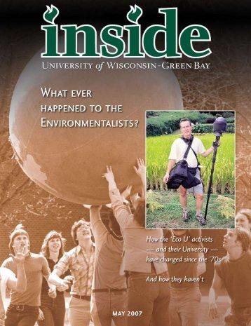 inside – may 2007 (pdf) - University of Wisconsin - Green Bay