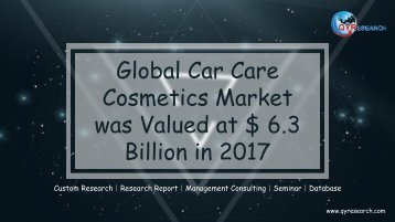 Global Car Care Cosmetics Market was Valued at $ 6.3 Billion in 2017