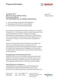 Presse Information - Bosch
