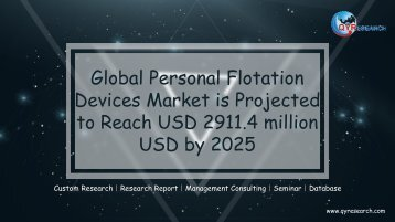 Global Personal Flotation Devices Market is Projected to Reach USD 2911.4 million USD by 2025
