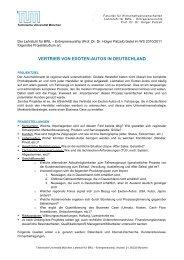 vertrieb von exoten-autos in deutschland - TUM Chair of ...