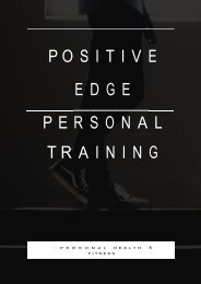 Leading Provider of Personal Training in Thornbury by Positive Edge