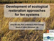 Development of ecological restoration approaches for fen ... - PeatNet