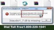 Fix Windows10 x3daudio1_7.dll is Missing Error 1-800-220-1041