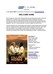 Presseheft DVD Welcome Home - polyfilm video