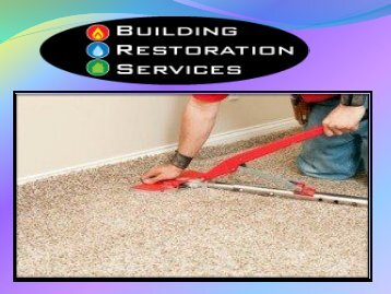 carpet water damage repair Melbourne
