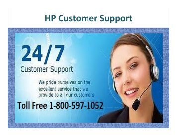 HP Customer Support Number 1-800-597-1052
