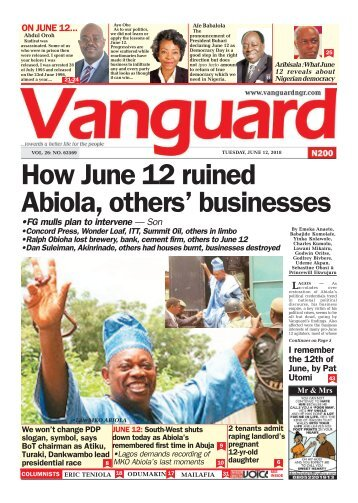 12062018 - How June 12 Abiola, others' businesses