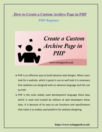 How to Create a Custom Archive Page in PHP – PHP Beginner