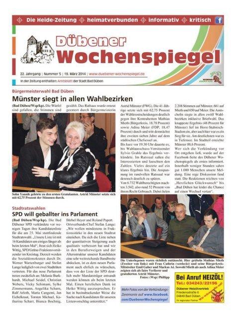 Dübener Wochenspiegel - Ausgabe 05 - 19-03_2014