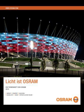 Licht ist Osram - Newsroom.de