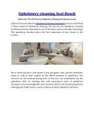 Best Upholstery cleaning Seal Beach services