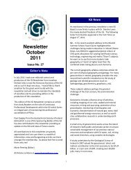 Newsletter October 2011 - The Institute of Geologists of Ireland