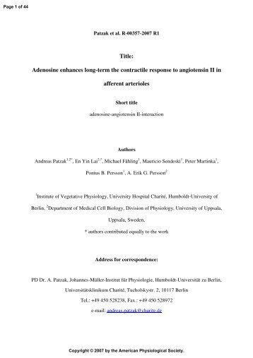 Title - American Journal of Physiology