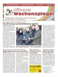 Dübener Wochenspiegel - Ausgabe 01 - 22-01_2014
