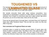 TOUGHENED VS LAMINATED GLASS