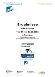 Hannover VeloChallenge 2012 - Allgemeiner Deutscher ...